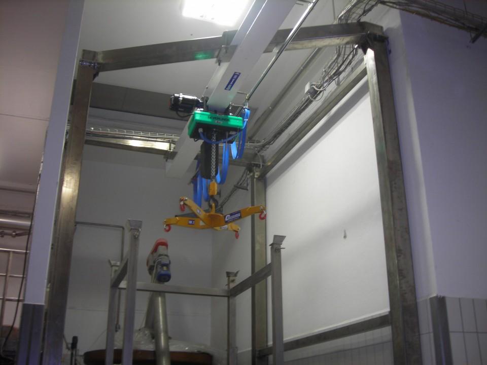Costelmec sollevamento e trasporto leggero for Paranco elettrico con supporto a bandiera